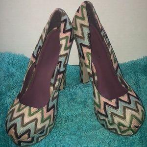 Madden Girl Multi Color Platform Heel 10